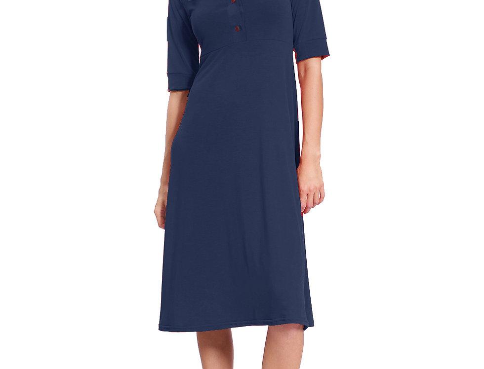 Dress Polo navy modal