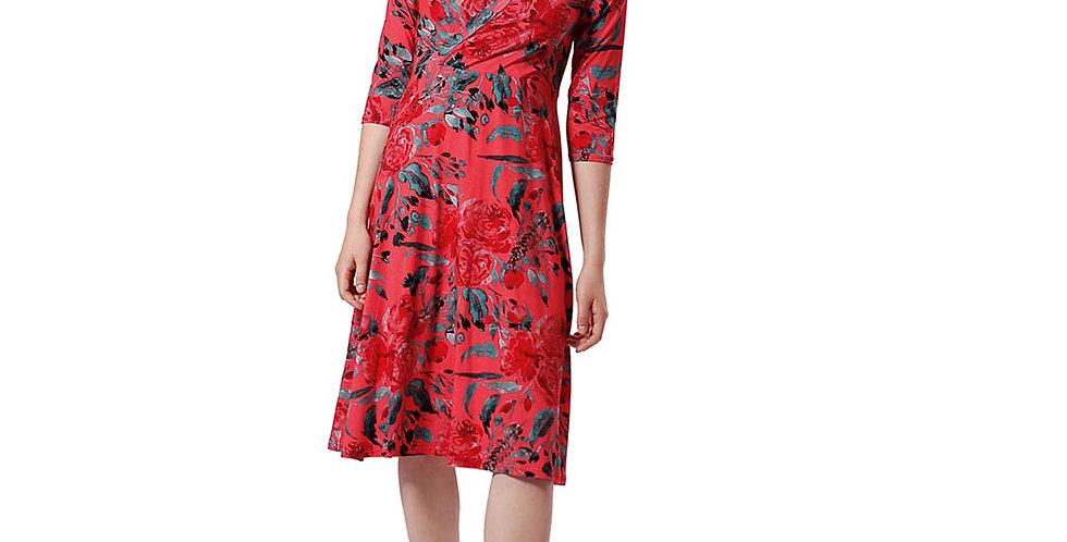 Dress Linda garden rouge