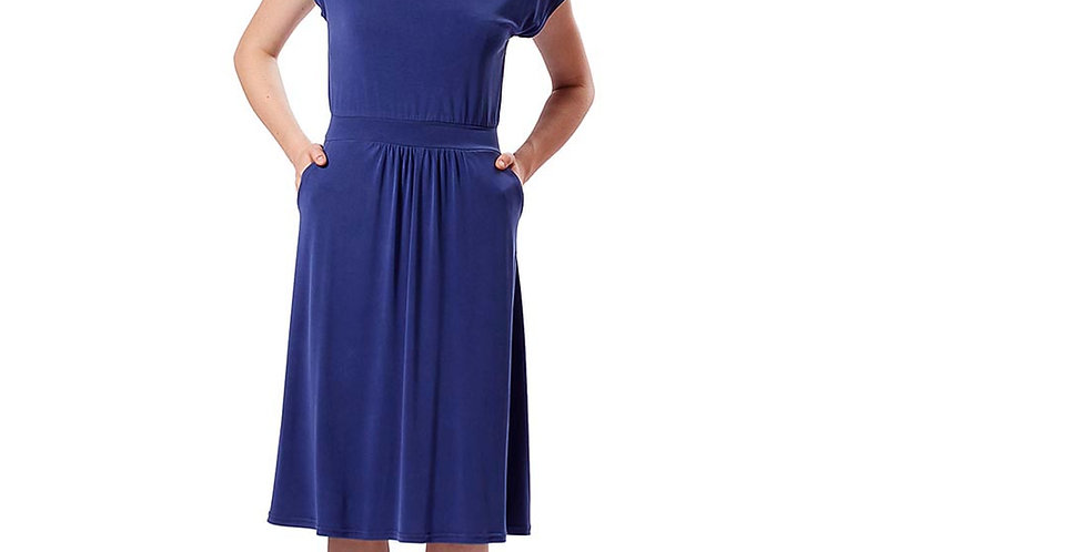 Dress Greta electric blue modal