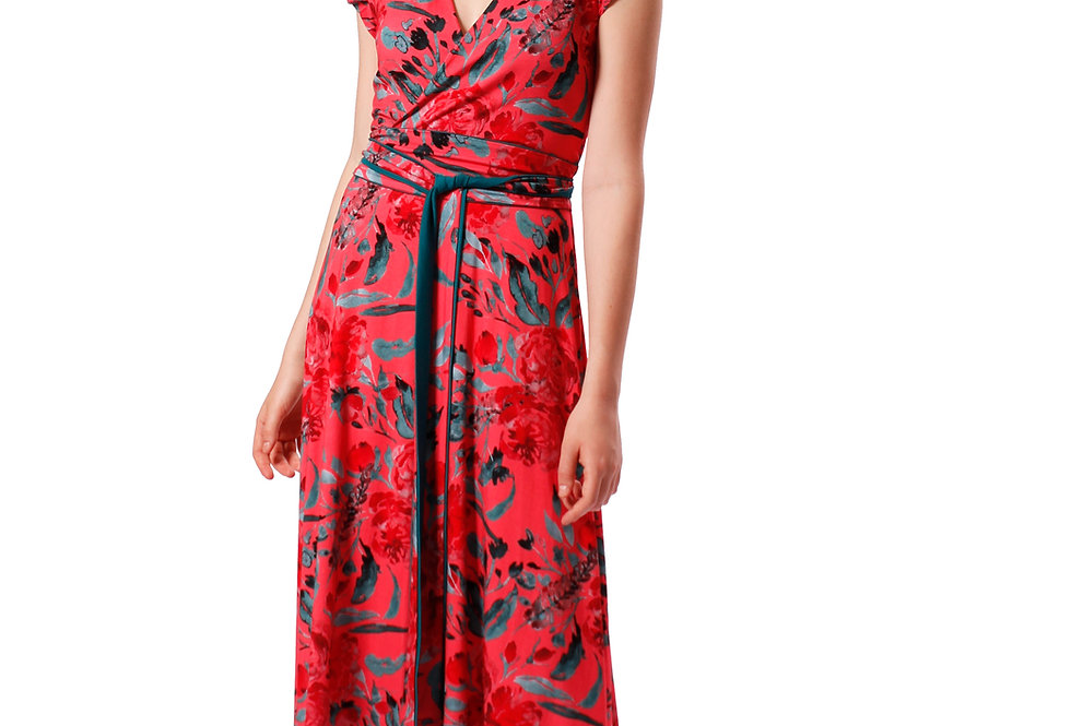 Dress Stella garden rouge