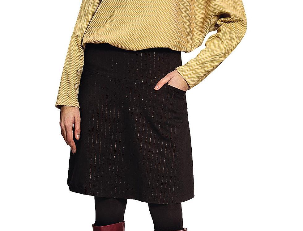 Skirt Liesel pinstripe lurex