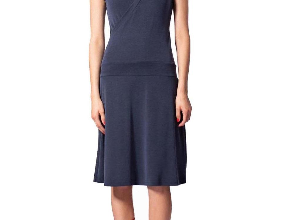 Dress Paula navy modal