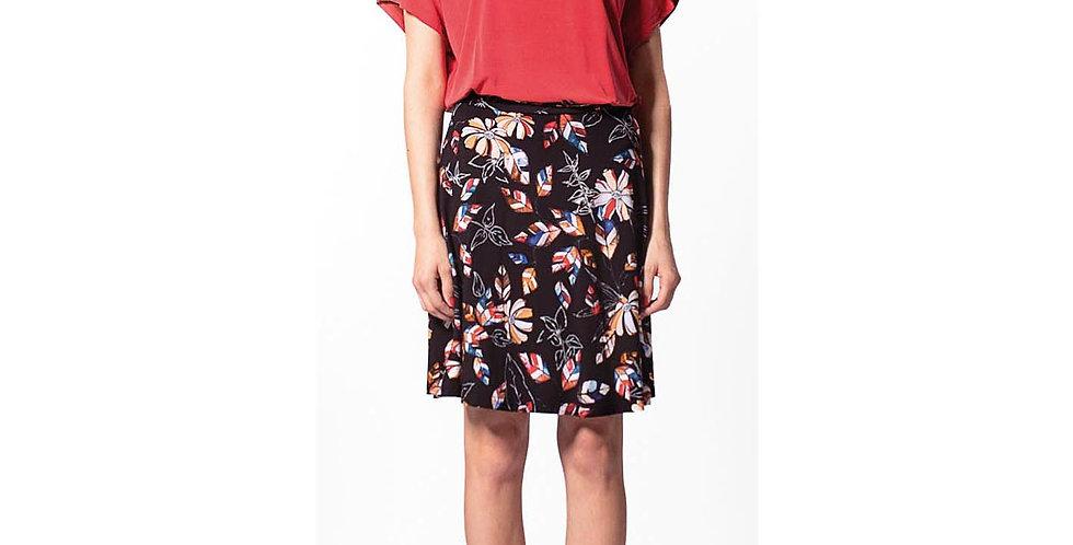 Skirt Mia black flower