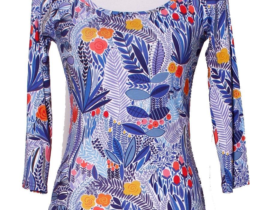T-Shirt Hetty garden blue