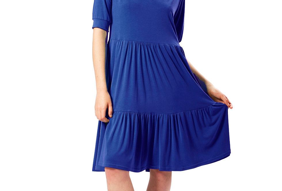 Dress Jenny electric blue modal