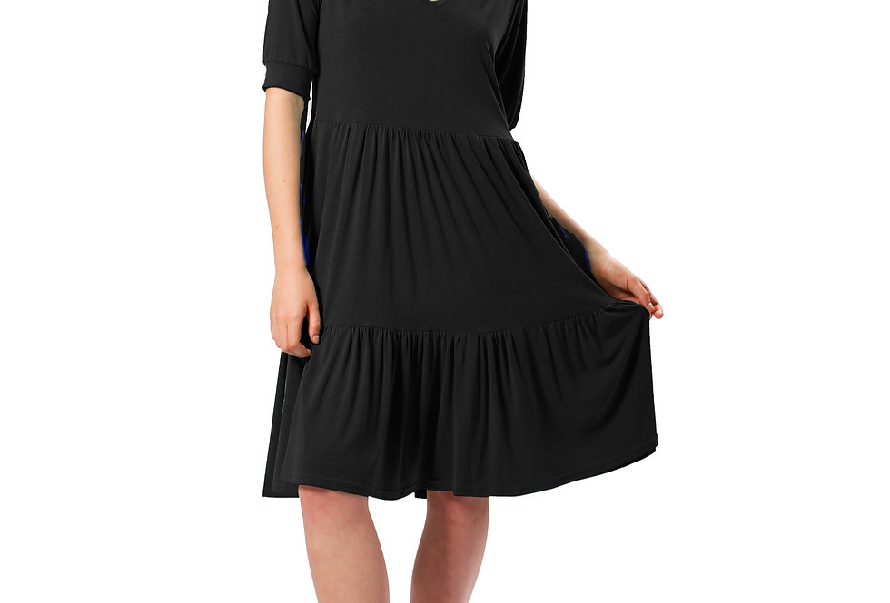 Dress Jenny black bamboo