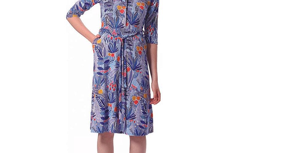 Dress Frida garden blue