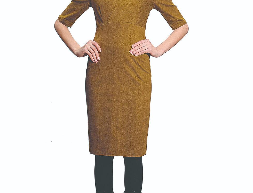 Dress Windsor senf flanel