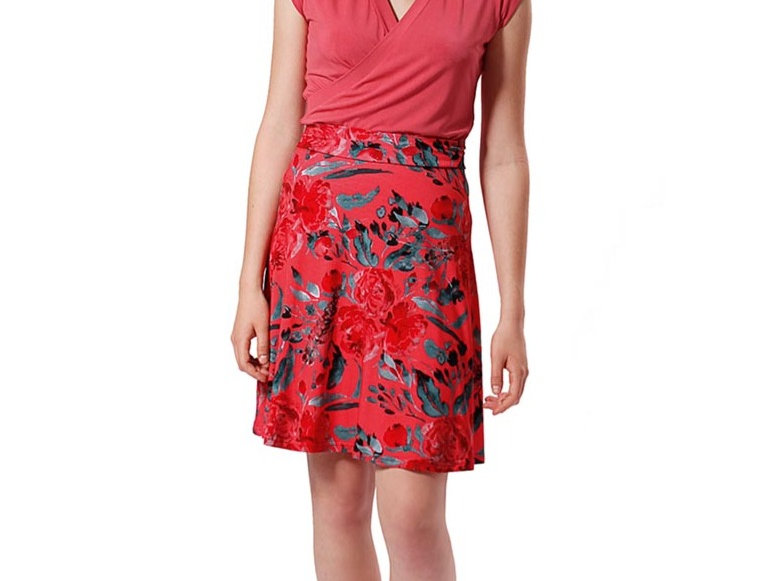 Skirt Mia garden rouge