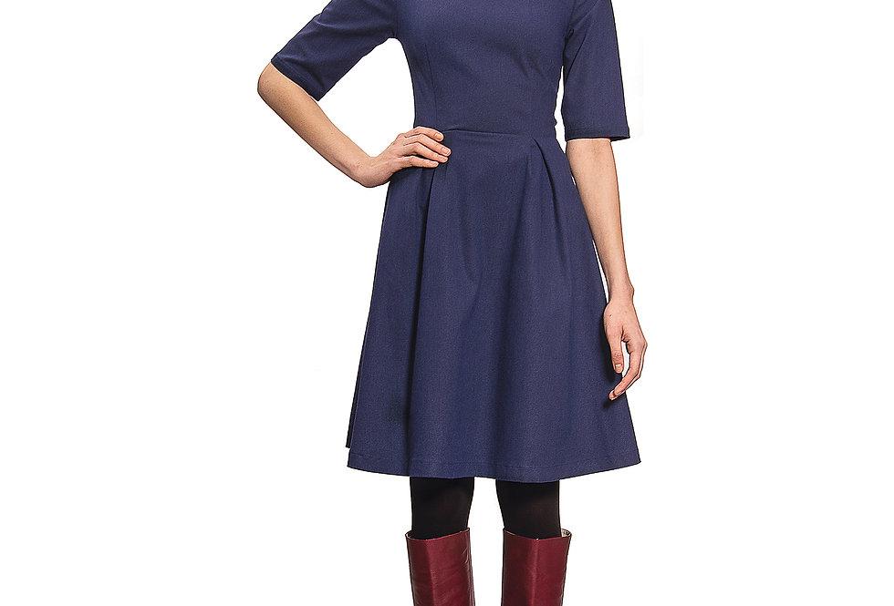 Dress Kate flanel blau
