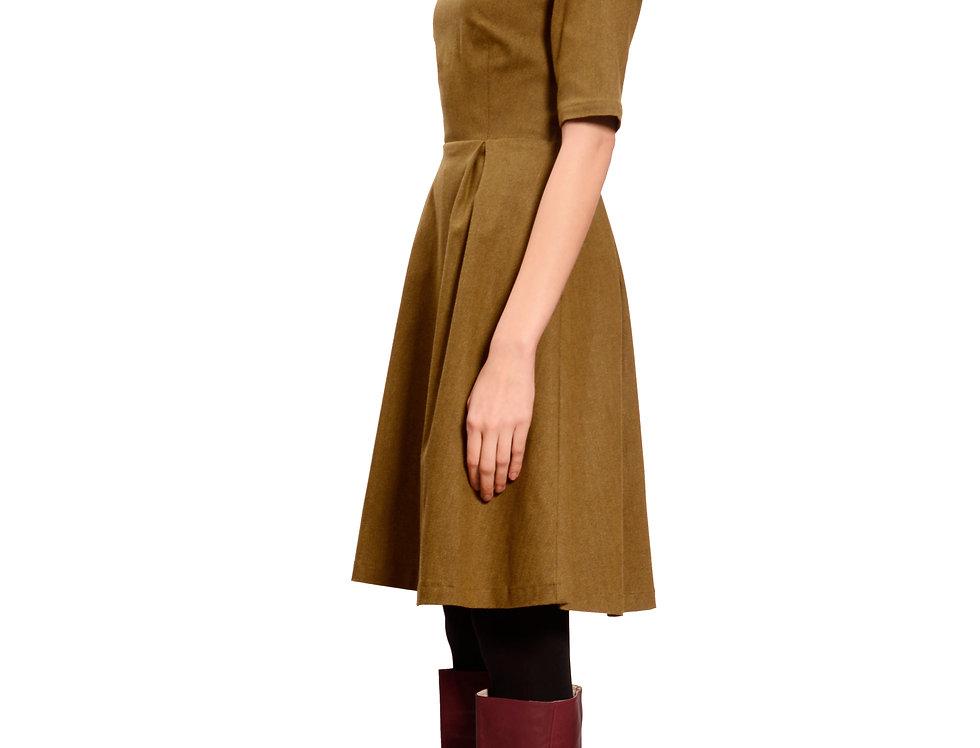 Dress Kate flanel senf