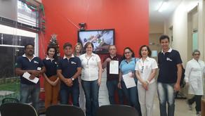 Funcionários da Fundação Cândido Garcia colaboram com campanha de doação de sangue.