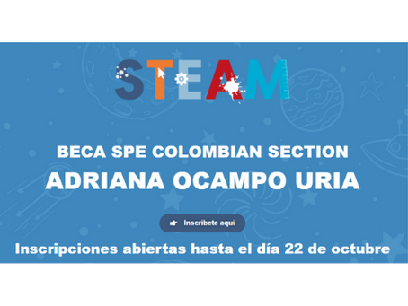 Beca SPE colombian section Adriana Ocampo Uria