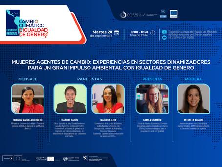 Mujeres agentes de cambio: experiencias en sectores dinamizadores para un gran impulso ambiental