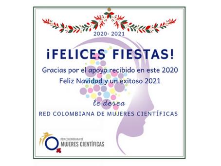 Tarjeta de fin de año de la Red Colombiana de Mujeres Científicas