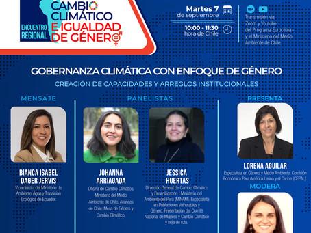 Gobernanza climática con enfoque de género