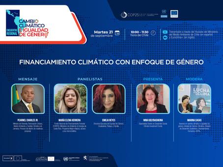 Financiamiento climático con enfoque de género