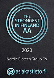 NordShield strongest in Finland certificate