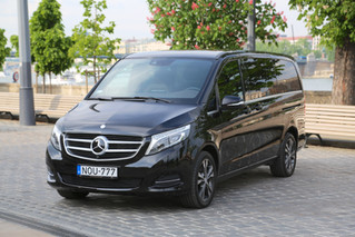 Let me introduce our new special vehicle: Mercedes Benz V-class with Sunroof :)