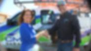 Jarrof Wilhite shaking customers hand