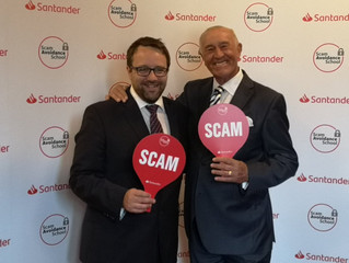 CHRIS ELMORE MP AND LEN GOODMAN TACKLE SCAMS WITH THE HELP OF SANTANDER