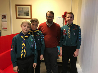 Pencoed Scouts Visit the Office