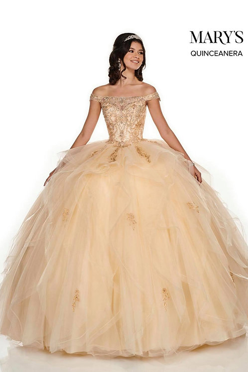 Carmina Quinceanera Dress (STYLE: MQ105) In Royal/Silver Or Champagne/Gold Color