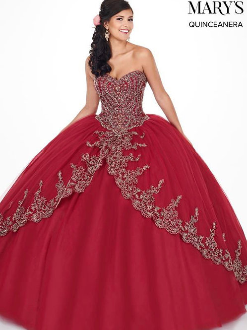 Dramatic ball gown dress (MQ1035)