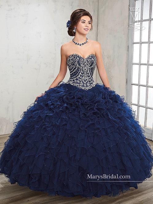 La Reina Quinceanera Dresses (STYLE: 4Q504) Dark Navy Color