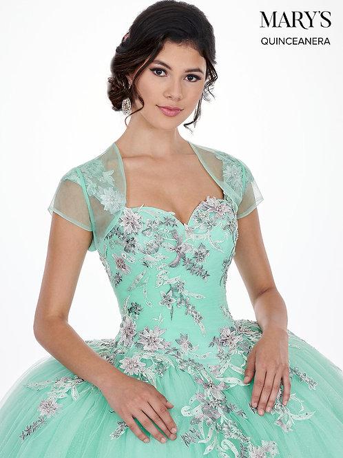 La Reina Quinceanera Dress (STYLE: MQ2067) Mint/Multi Color