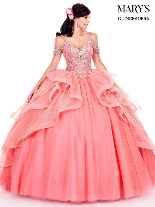 La Reina Quinceanera Dress (STYLE: MQ2053) Watermelon Color