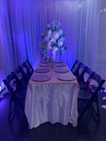6ft Rectangular  with 8 Chairs