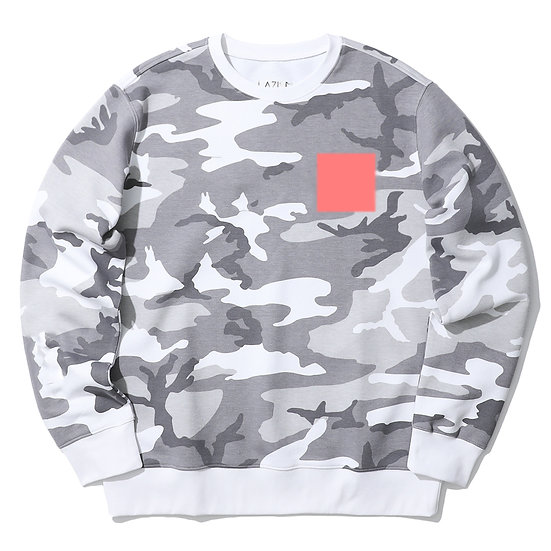 WHITE CAMO SWEATER