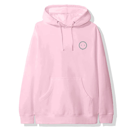 REFLECTIVE FLUFFY BALL HOODIE PINK