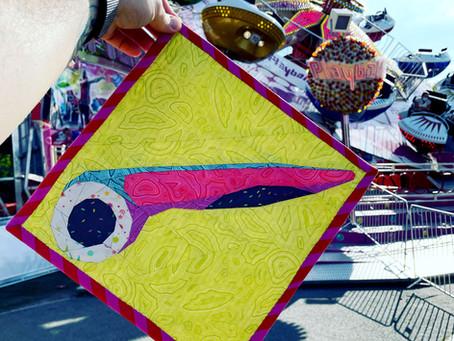 See Me Rollin Block Project Bag (Aurifil Artisan Showcase July)