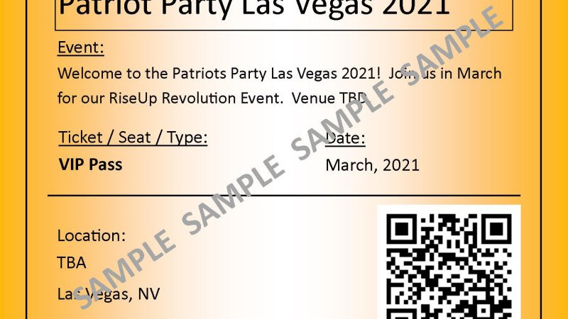 VIP Event Pass, Las Vegas -March. 2021