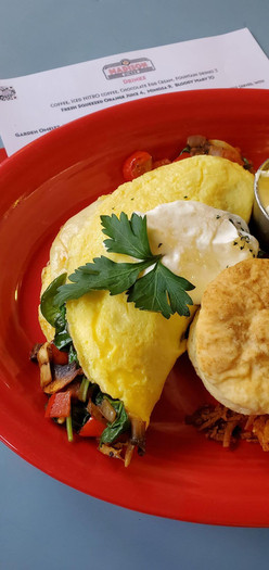 Omelet at The Madison Diner