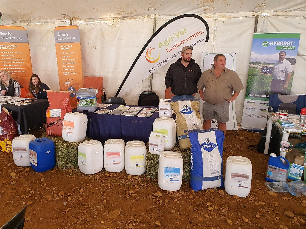 Nutrochem employees showcasing products at expo