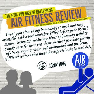 Jonathan at Air Fitness Ballymena