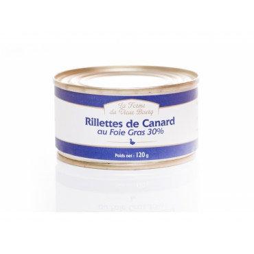 Rillettes de canard au Foie gras (30% de Foie gras) 120g