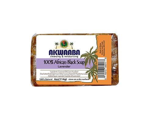 AK08_African Black Soap (lavender) 4oz