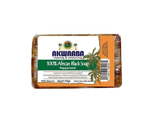 AK07_African Black Soap (peppermint) 4oz