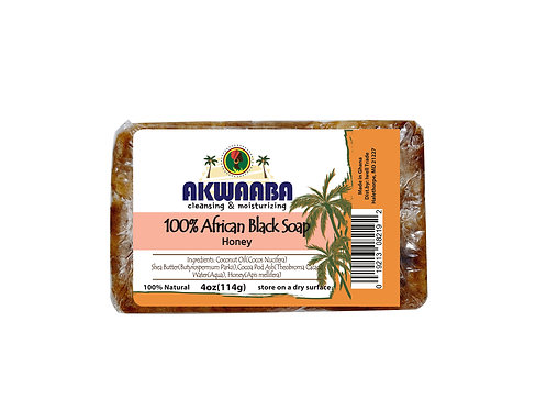 AK06_African Black Soap (honey) 4oz