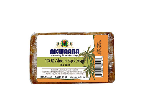 AK09_African Black Soap (tea tree) 4oz