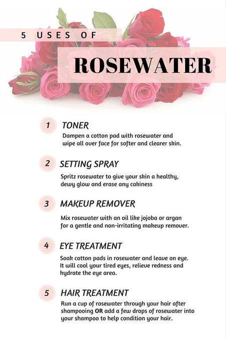 5 Uses of Rosewater