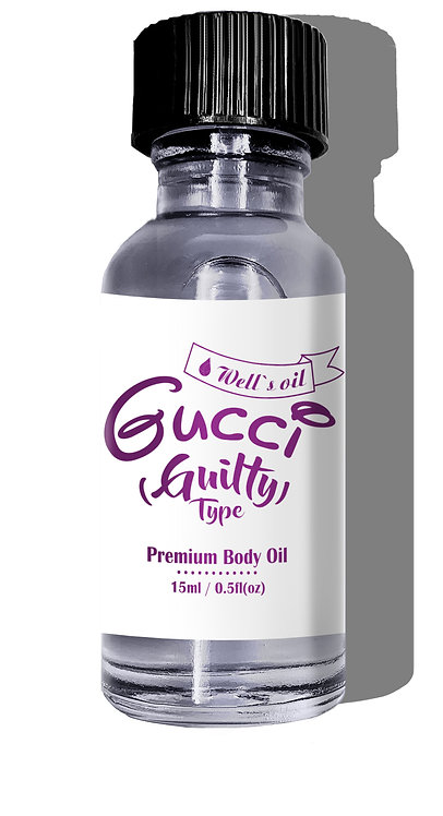 Well's Premium Body Oil 0.5oz (Gucci Guilty Type)