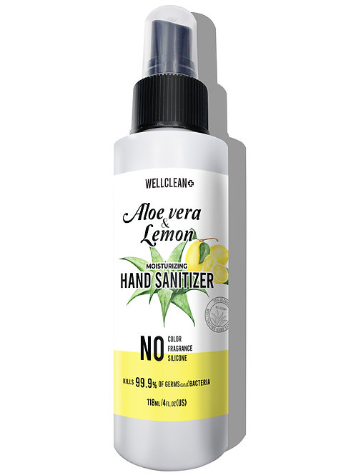 WC03_WELLCLEAN+ Aloe Vera & Lemon Hand Sanitizer 4oz