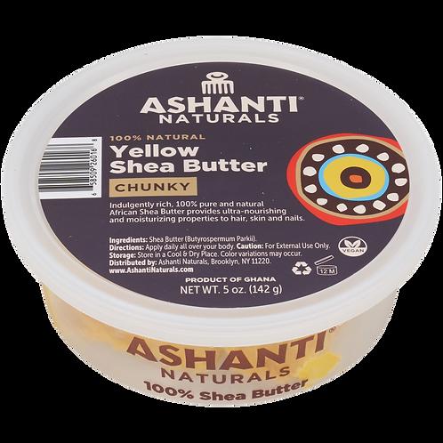 AN910_100% Shea Butter Yellow Chunky 5oz(12/cs)