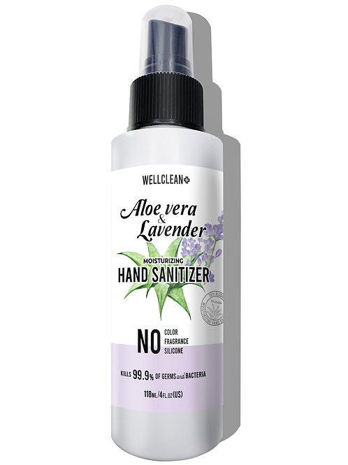 WC02_WELLCLEAN+ Aloe Vera & Lavender Hand Sanitizer 4oz