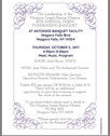 Oct. 5 2017 – Join us for the 4th Annual NGRM Fundraising Banquet!